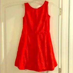Girls orange sleeveless dress